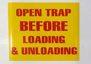 Open Trap Safety decals